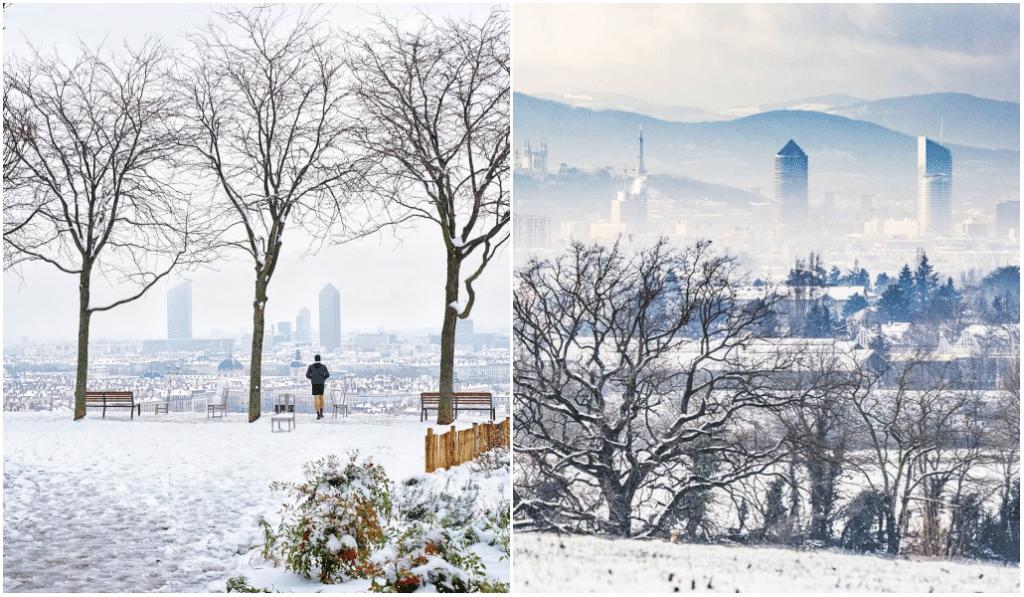 En images : découvrez les plus belles photos de la neige à Lyon !
