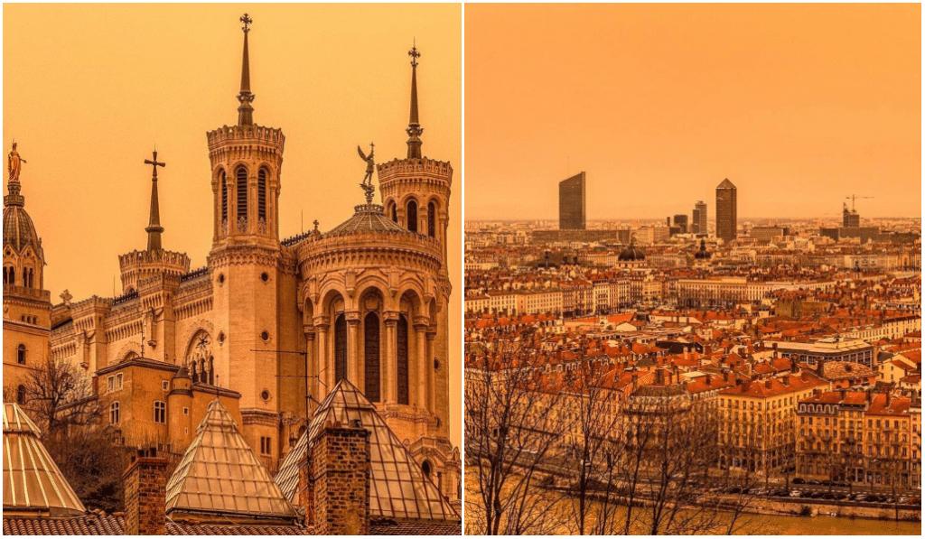 En images : observez l'épais manteau orange qui a recouvert Lyon ce samedi !