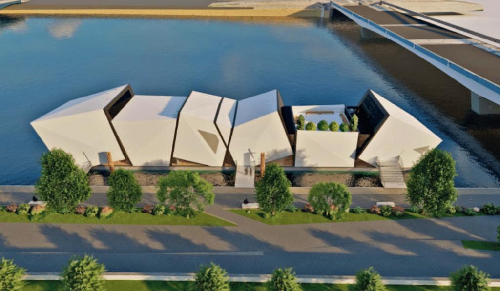 Un théâtre flottant sur les berges du Rhône va émerger à Lyon en 2022 !