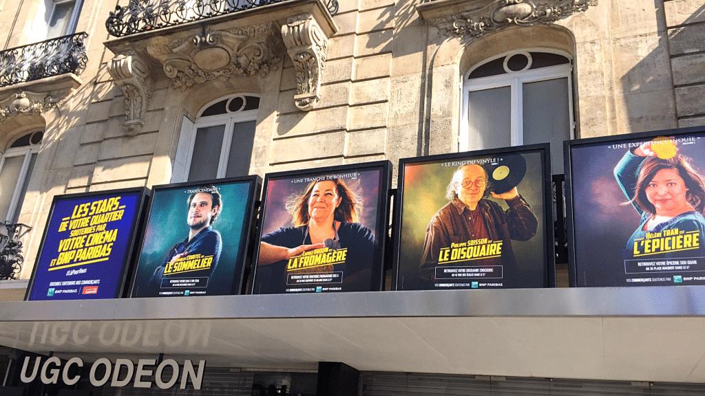 Insolite : à Lyon, un cinéma remplace ses affiches de films par des photos de commerçants !