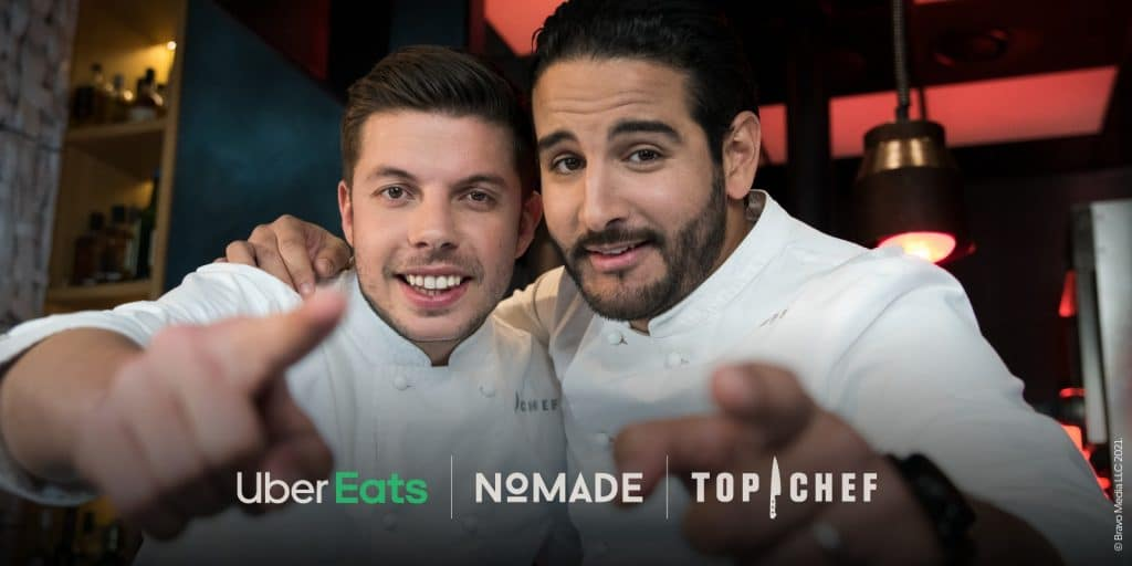 Top Chef : le menu du resto Nomade, gagnant de « La Guerre des Restos » livré chez vous par Ubereats !