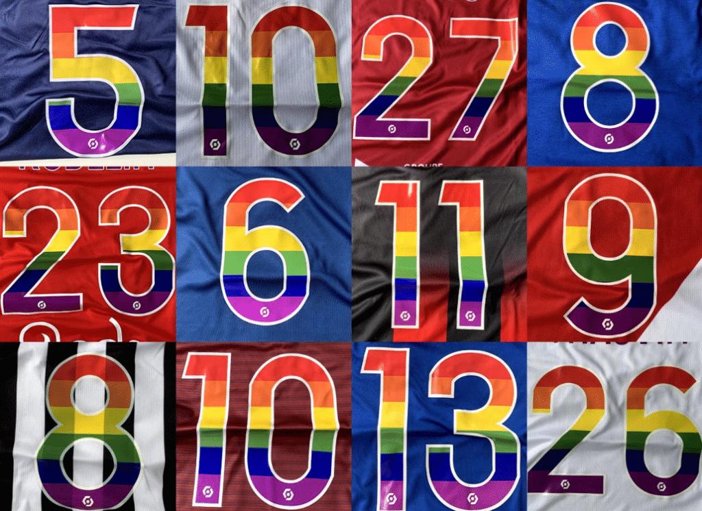 Droits LGBT : les joueurs de Ligue 1 vêtus de maillots arc-en-ciel !
