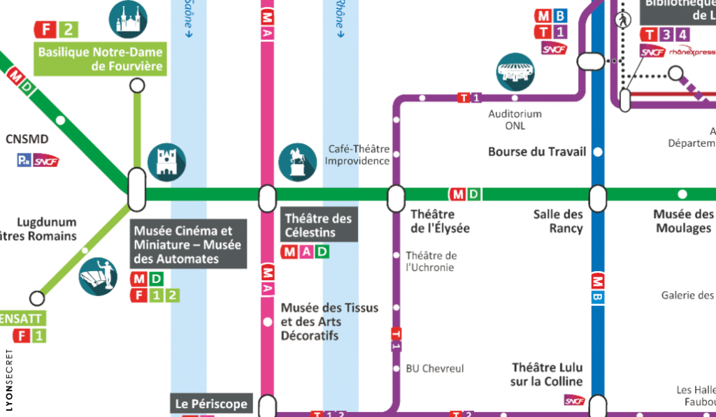 EXCLU : on a remplacé toutes les stations du métro de Lyon par des lieux culturels !