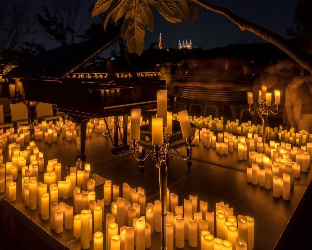 Le magnifique Fort de Vaise accueille des concerts Candlelight inédits en plein air !