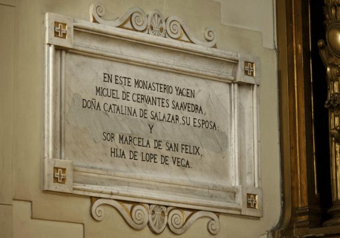 tumba de miguel cervantes
