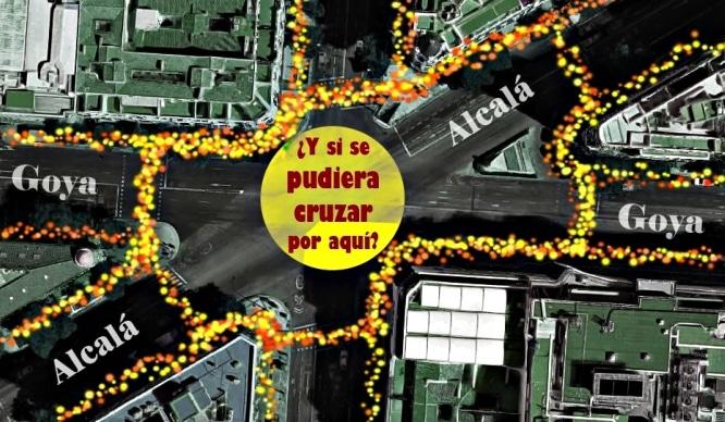 Madrid tendrá su primer paso de peatones diagonal