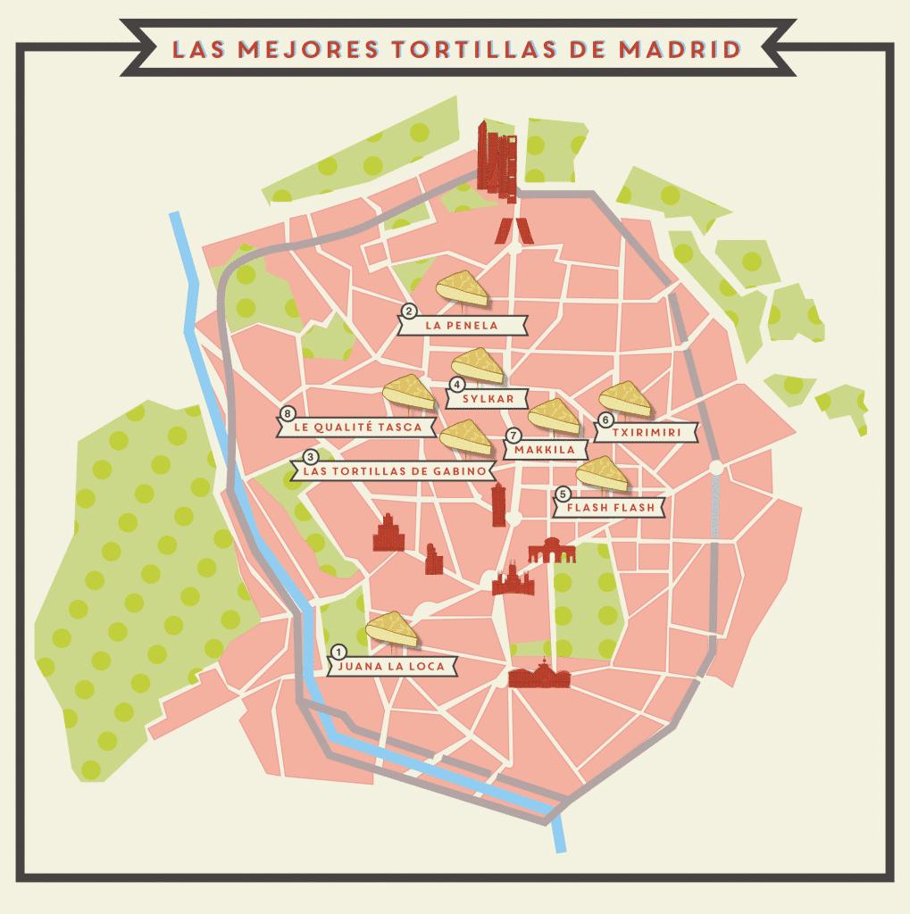 Descubre a dónde lleva el mapa más tortillero de Madrid