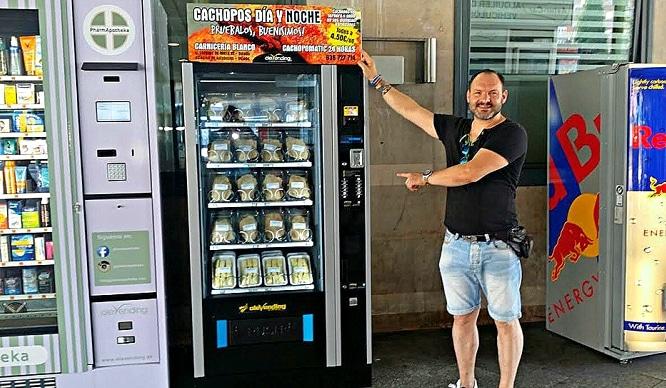 Atocha instala una máquina expendedora de Cachopos