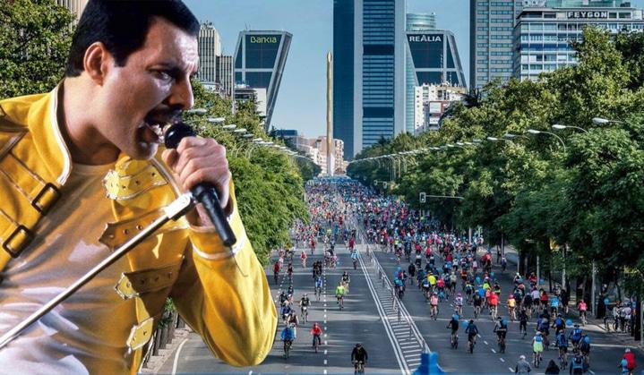 Una marcha solidaria en bici para homenajear a Freddie Mercury