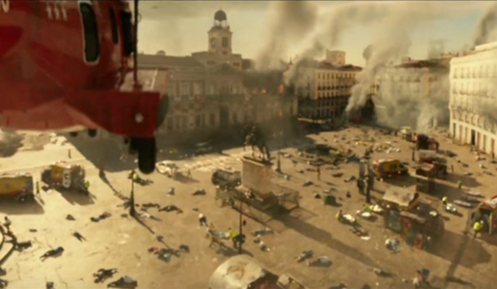 Así destrozarán la Puerta del Sol en 'Geostorm'