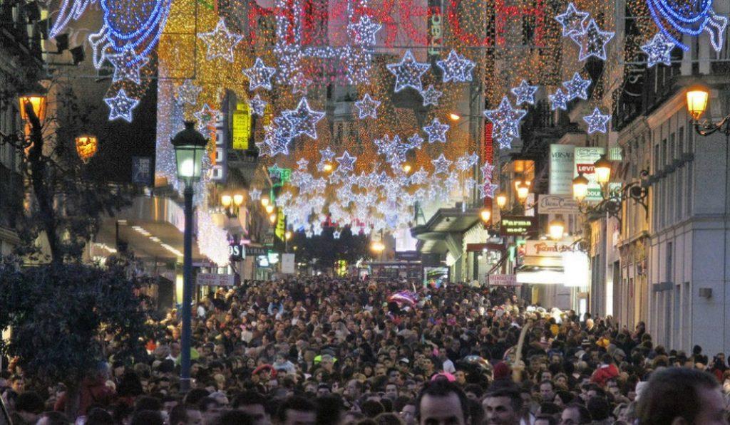 Las calles de Preciados y del Carmen tendrán sentido único durante la Navidad