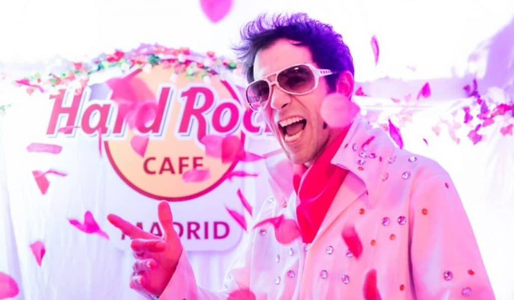 Hard Rock Cafe Madrid celebra bodas al estilo Las Vegas por San Valentín
