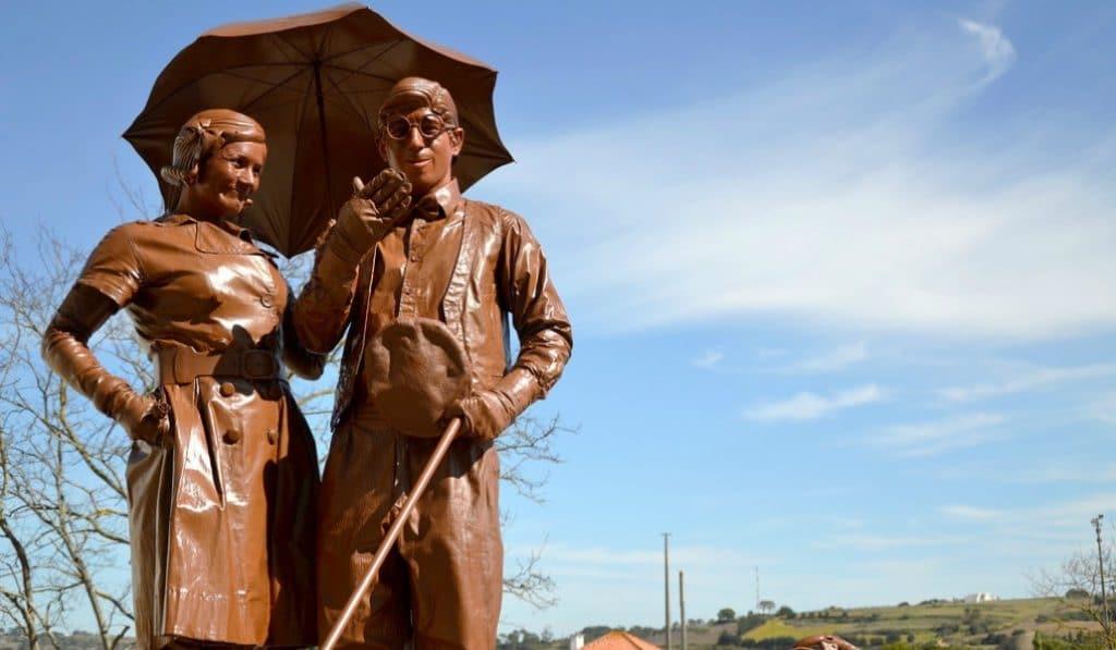 Madrid acoge una exposición con figuras de chocolate de más de 70kg