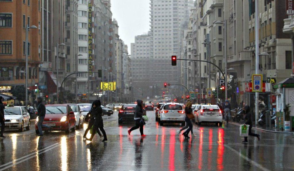 Nieve y lluvia para las próximas dos semanas en Madrid