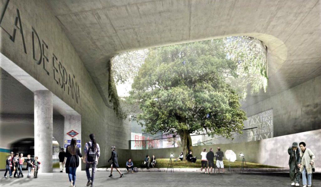La galería subterránea de Plaza España se renovará