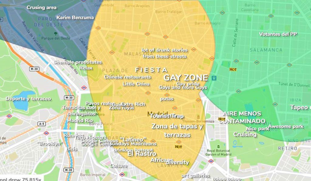 El mapa sin tapujos de Madrid: ¿por dónde se mueven los hipster o los pijos?