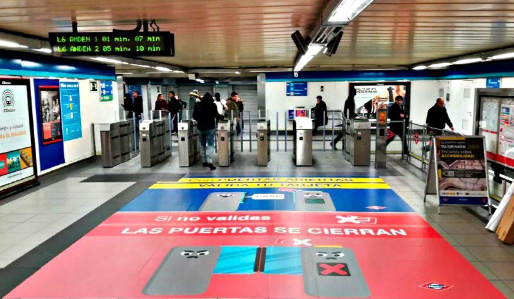 Metro de Madrid amplía las estaciones con puertas de acceso abiertas
