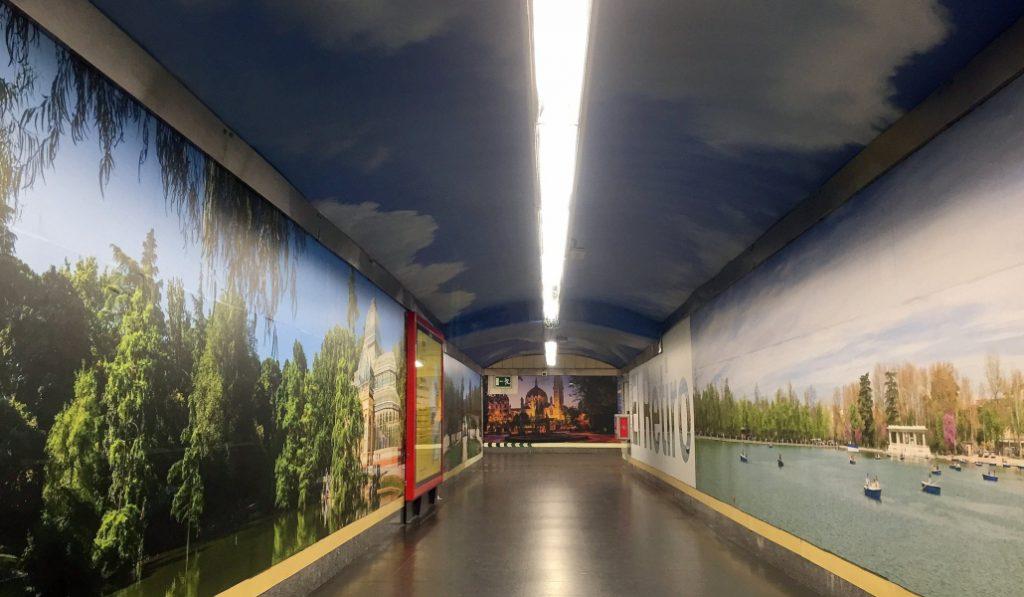 Este es el nuevo aspecto de la parada de metro de Retiro