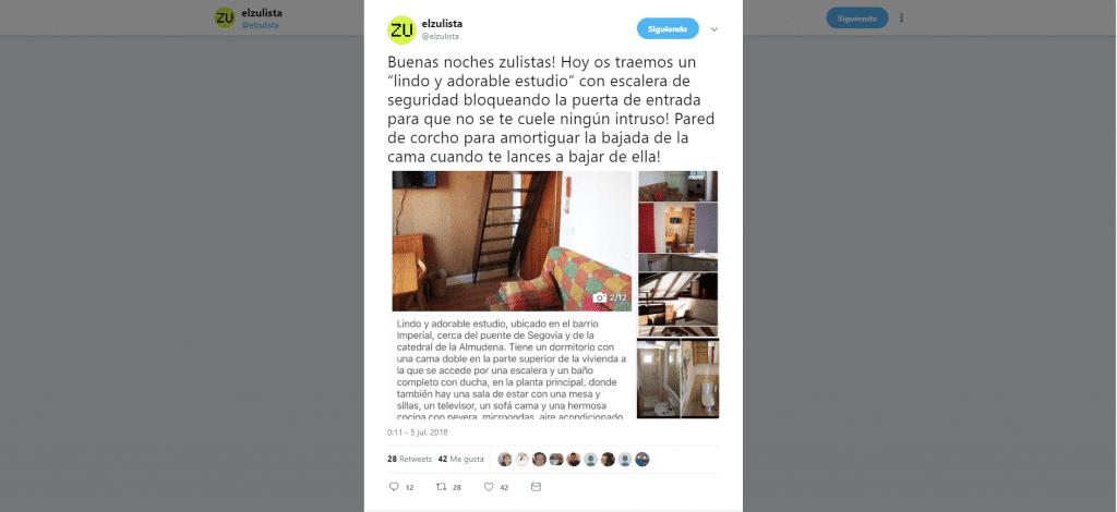 El Zulista: destapando las vergüenzas del mercado inmobiliario desde Twitter