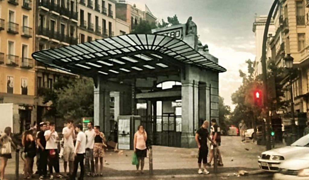 La parada de Metro de Gran Vía recuperará su Templete