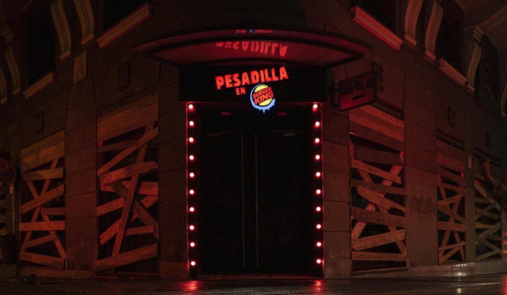 Burger King se transforma en una casa del terror por Halloween