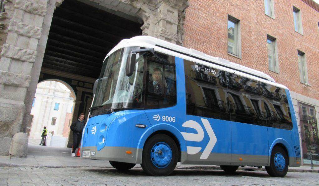 Madrid estrena una nueva flota de minibuses eléctricos
