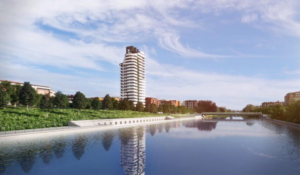 Así es el nuevo rascacielos que se levanta en Madrid Río