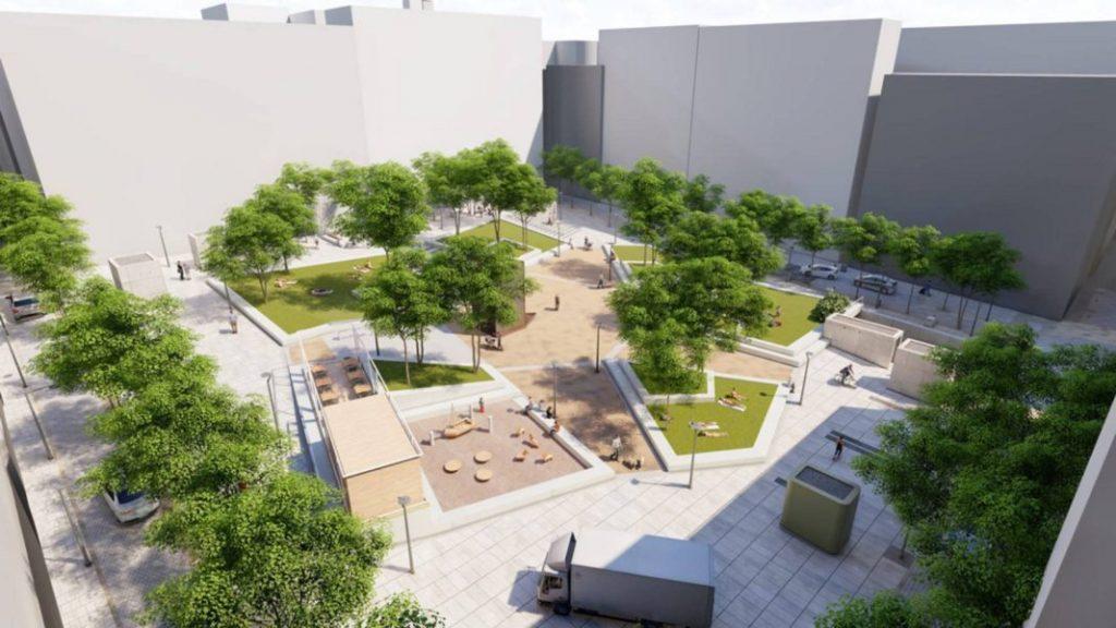 La nueva plaza de Pedro Zerolo plantará seis praderas en pleno Chueca