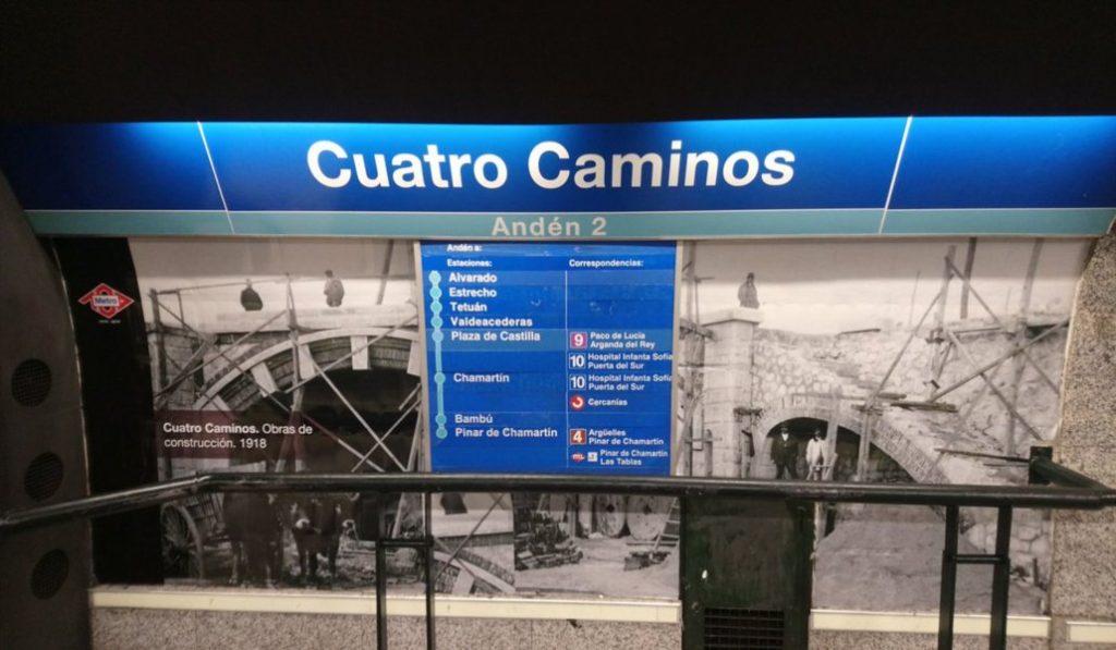 Metro reformará y tematizará la estación de Cuatro Caminos en octubre