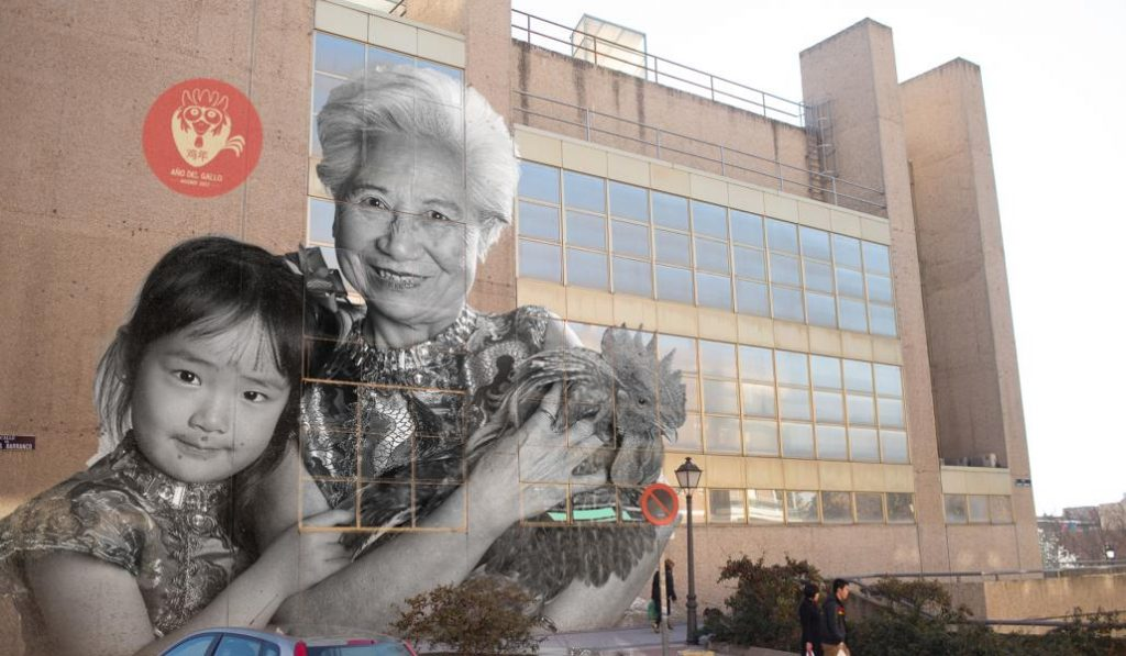 La comunidad china celebra una manifestación por primera vez en Madrid