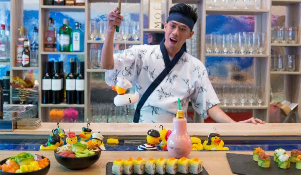 True Sushi: cocina asiática gourmet y patitos de goma con premio