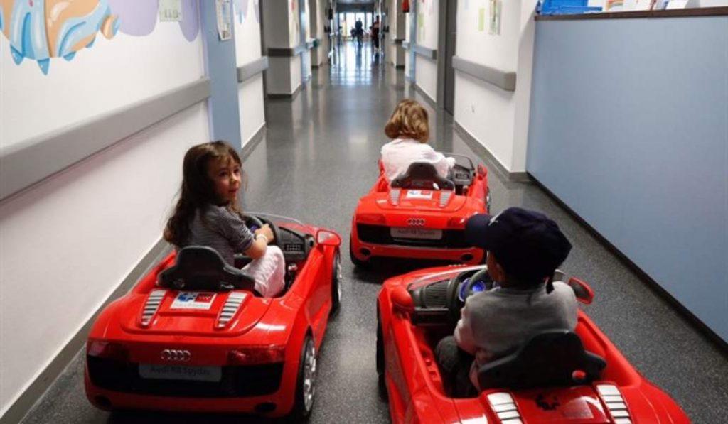 Los peques de Madrid irán al quirófano al volante de un coche eléctrico
