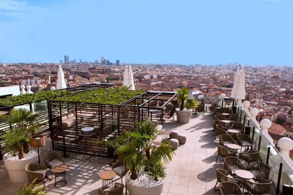 Las terrazas donde besarás el cielo de Madrid