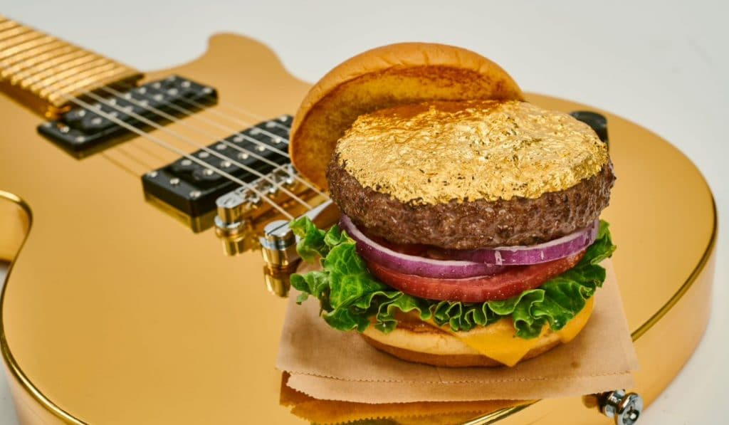 Así es la nueva hamburguesa de oro de Hard Rock Cafe