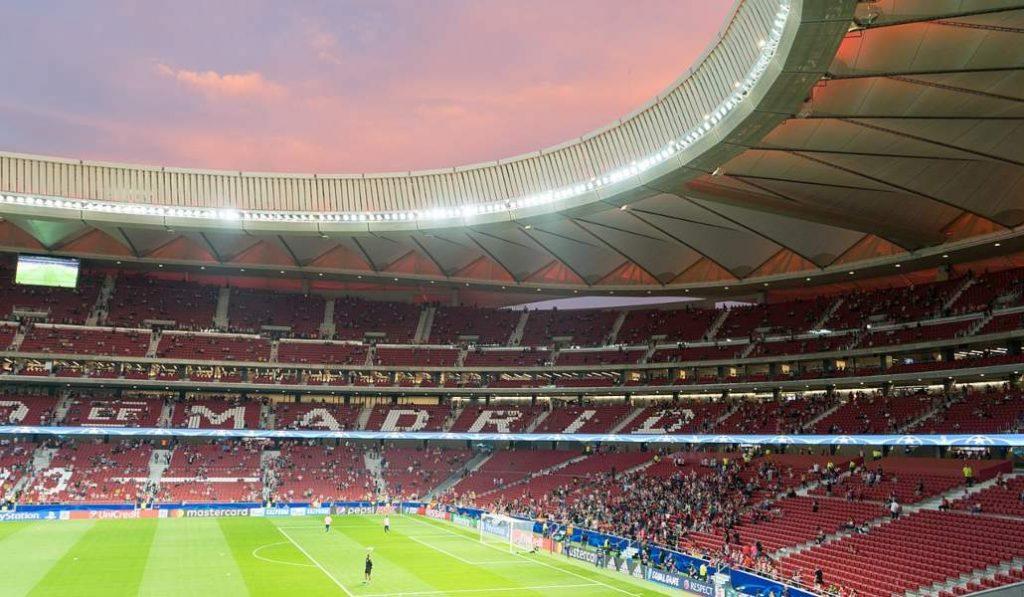El nuevo estadio del Atlético de Madrid estrena sus jardines este verano