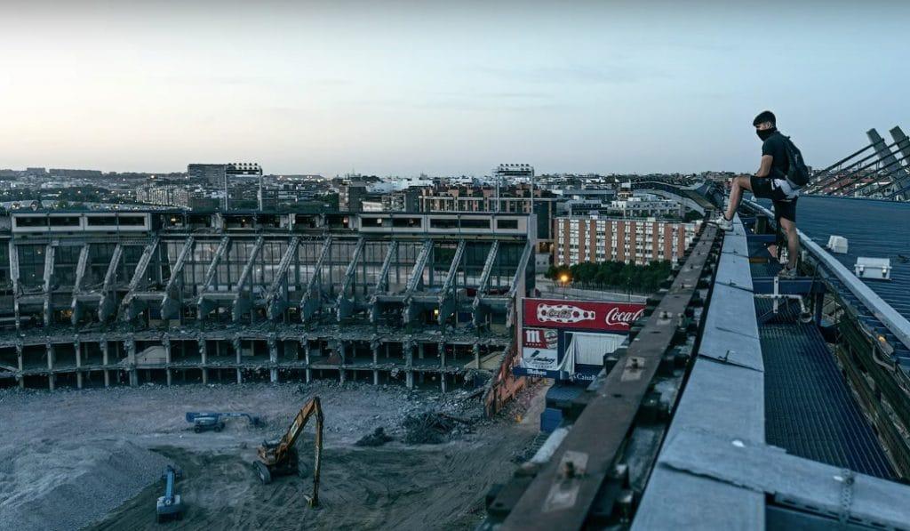 Así lucen por dentro las ruinas del Vicente Calderón