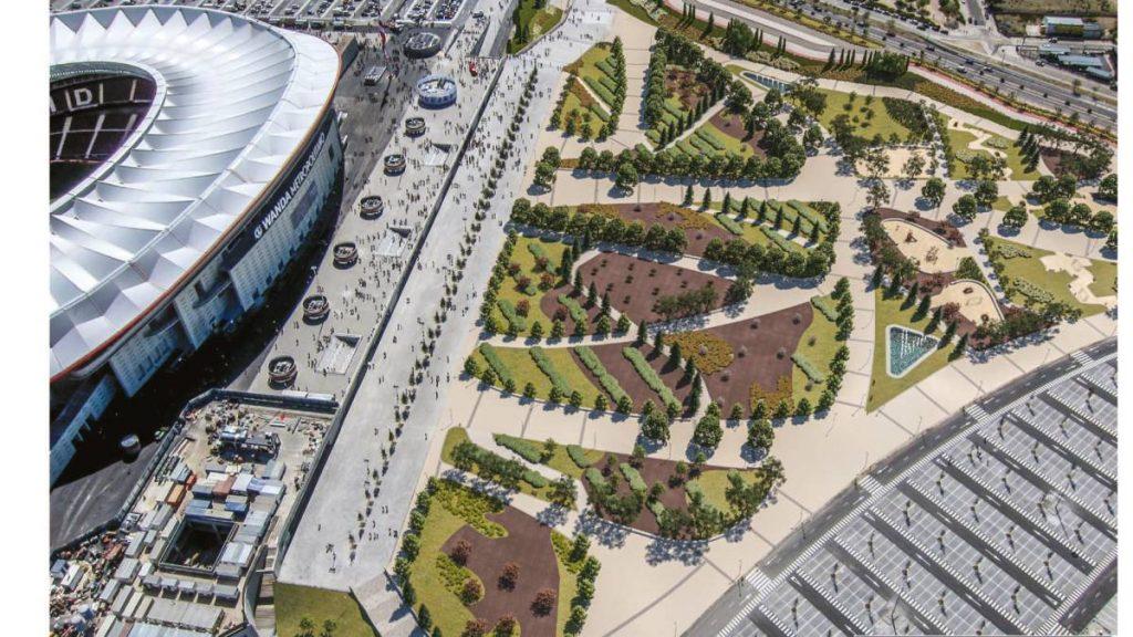 Los nuevos jardines del Wanda Metropolitano abren al público