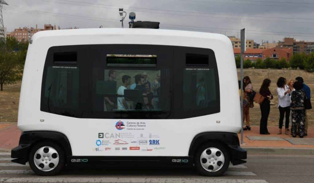 Prueban en Leganés el primer autobús sin conductor