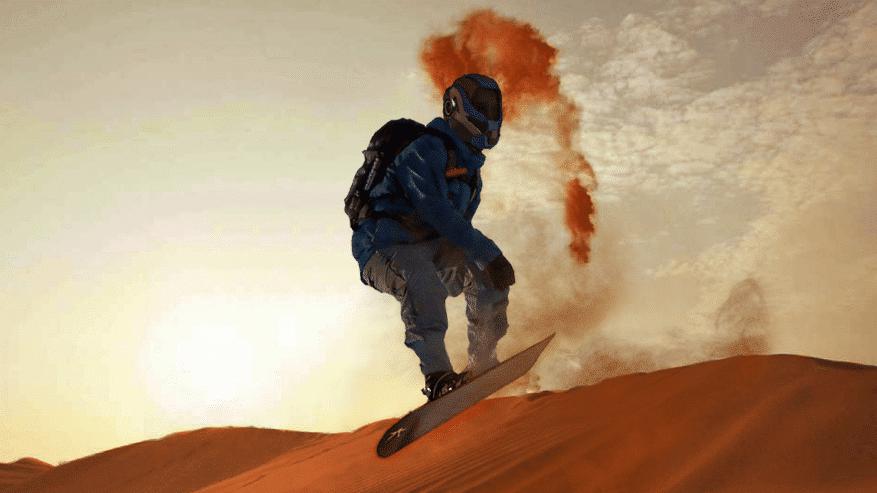 Nueva oferta turística en Marte: el Sandboarding