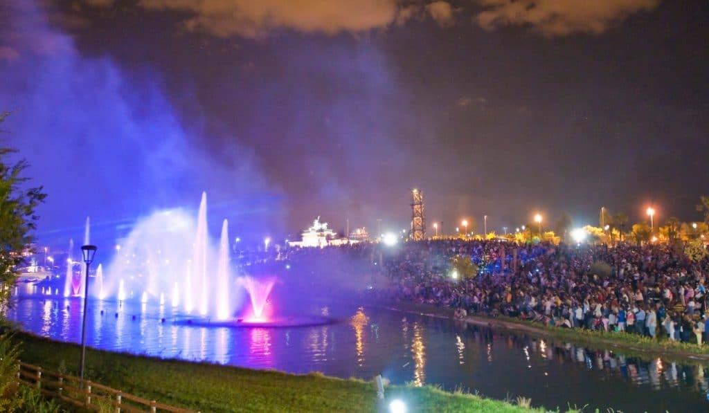 El Parque de Europa te ofrece un espectáculo único de agua, luz y sonido