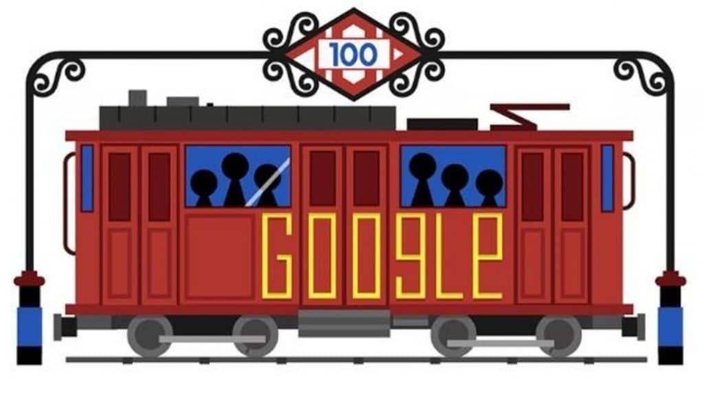 Google también celebra el centenario del Metro de Madrid