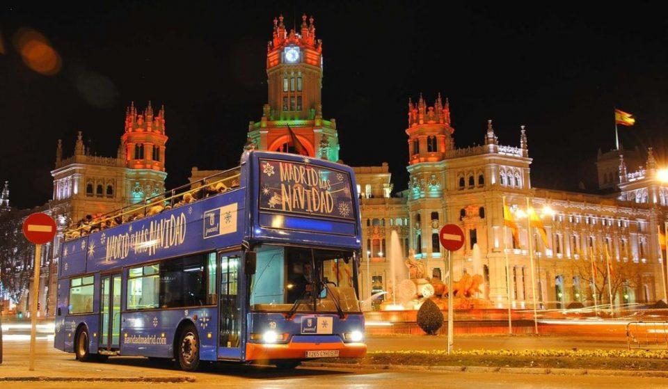 Naviluz, el autobús de las luces navideñas, regresa a las calles de Madrid