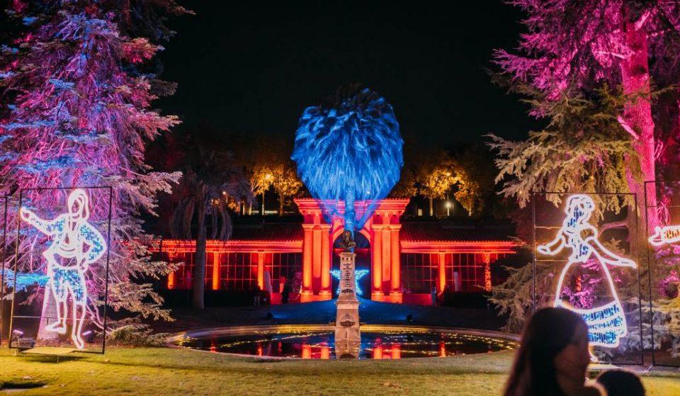 Así es el Jardín Botánico de Madrid cubierto por las luces de Navidad