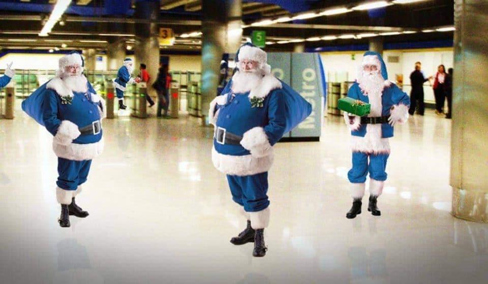 Metro de Madrid celebra la Navidad y Sol se convierte en el Polo Norte