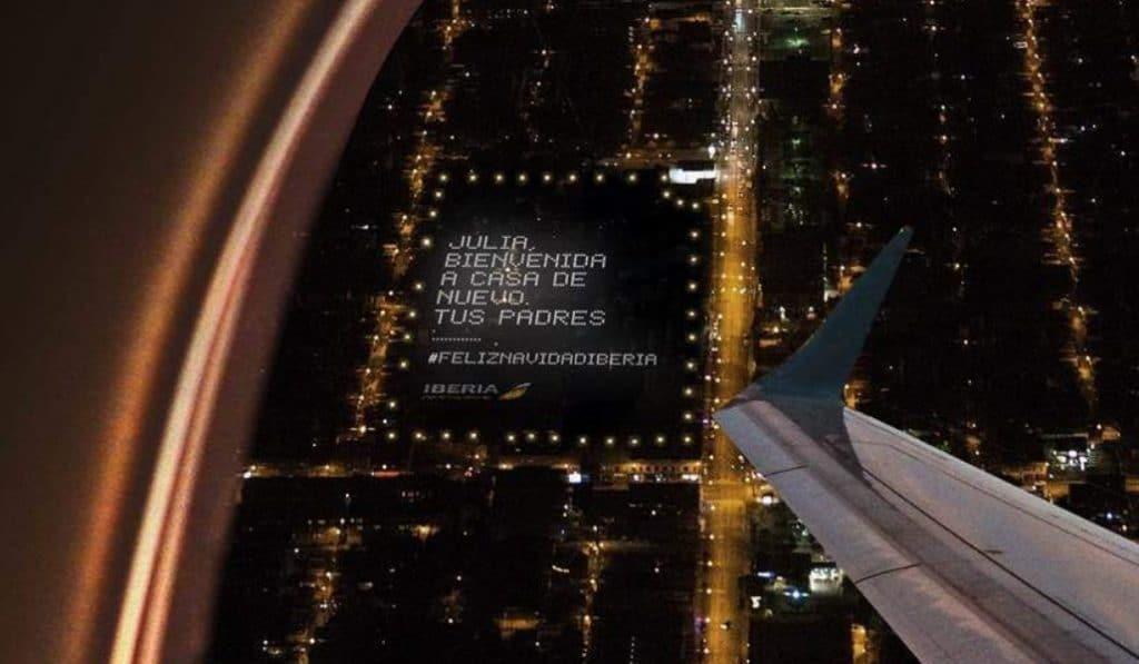 Esta felicitación navideña está en Madrid y solo se puede ver desde un avión