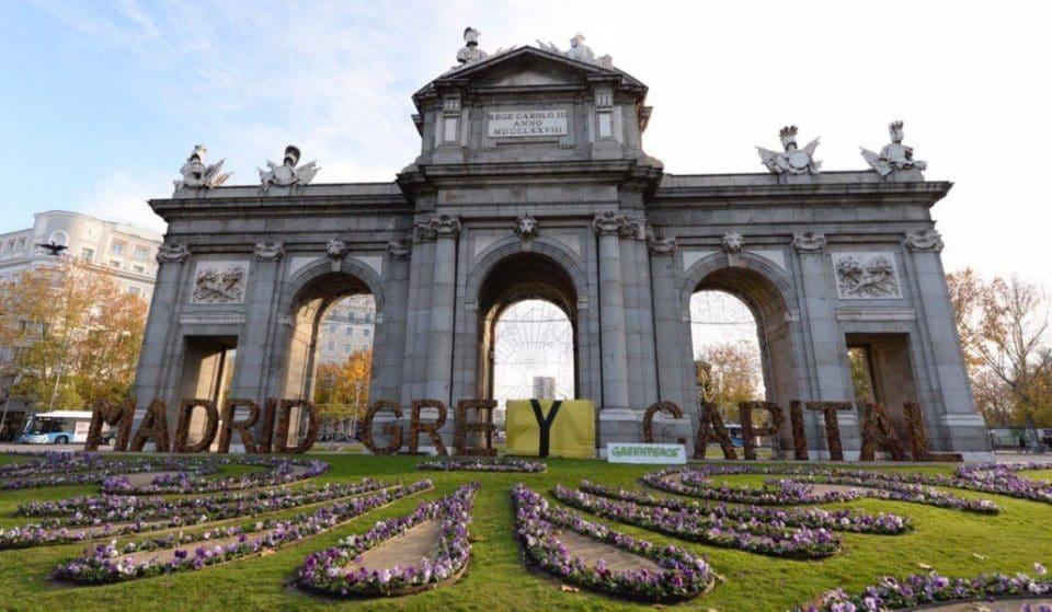 De 'Madrid Green Capital' a 'Madrid Grey Capital': nueva protesta de Greenpeace