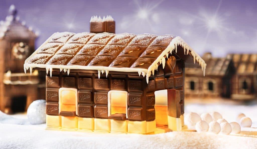 Milka monta en Madrid una granja (en miniatura) de chocolate
