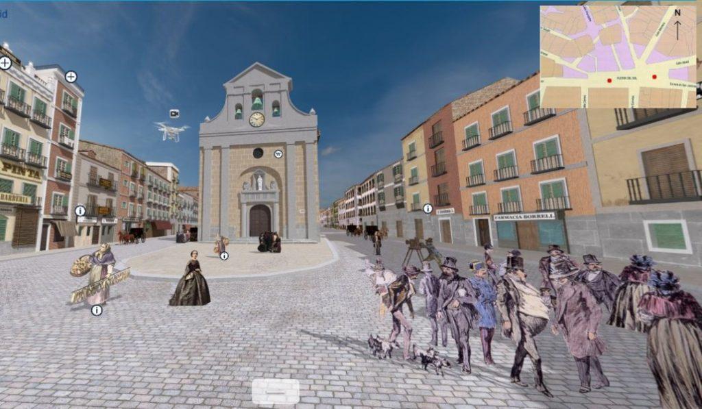 Pasea por la Puerta del Sol de 1854 gracias a una recreación en 3D