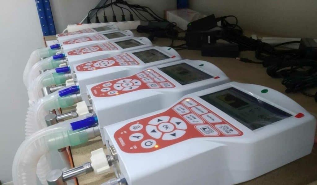 Una empresa mostoleña multiplica por 10 su producción de respiradores