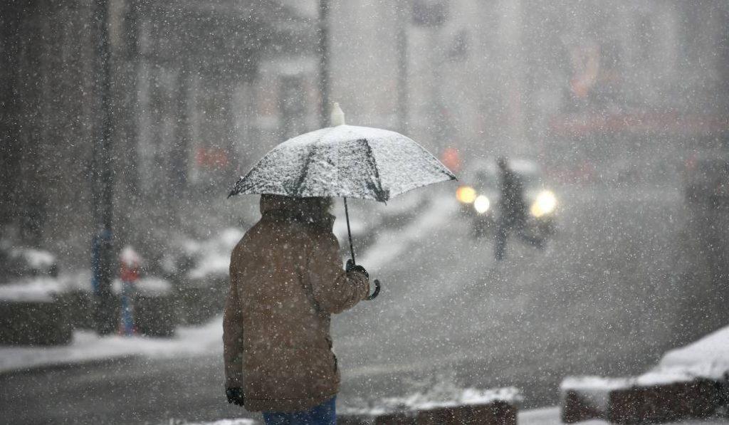Nieva en Madrid durante la cuarentena